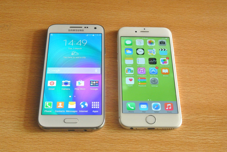 So sánh giữa Samsung E5 và iPhone 6