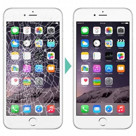 Trước và sau khi thay mặt kính iPhone 6S Plus