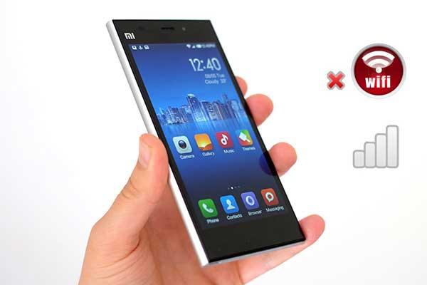 Thí dụ cho sửa wifi Xiaomi Mi 3 không hề bắt được wifi