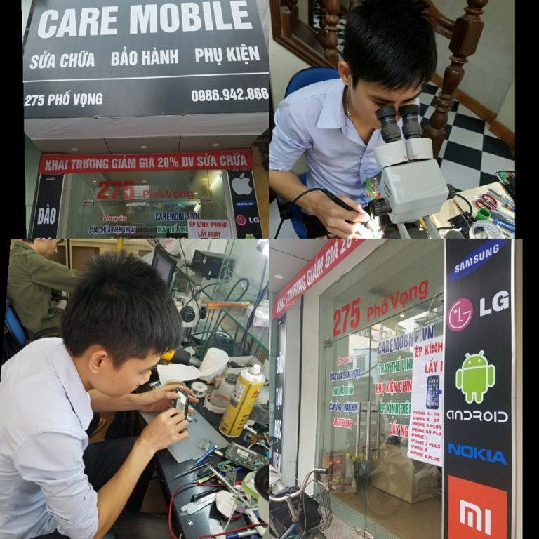 Sửa chữa điện thoại tại trung tâm CareMobile