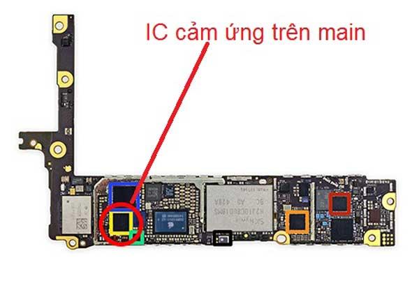 Hình ảnh IC cảm ứng trên main
