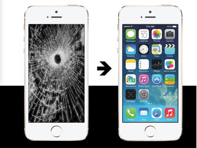 Trước và sau khi thay mặt kính iPhone 6