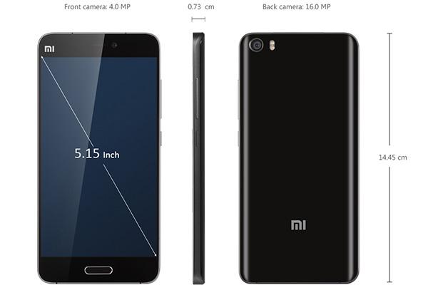 Cấu tạo, kích thước màn hình Xiaomi Mi 5