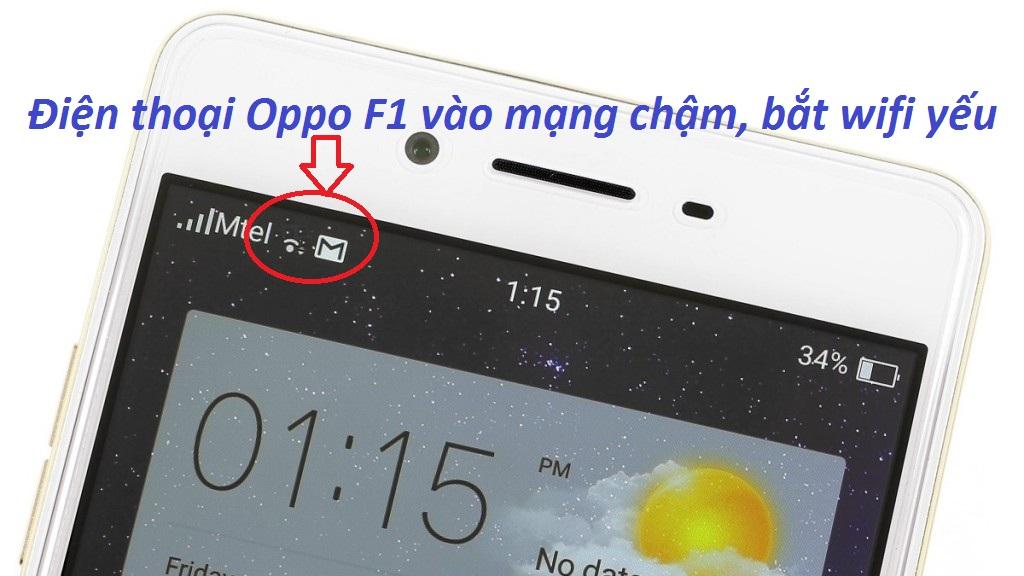 Điện thoại Oppo vào mạng chậm, bắt wifi yếu
