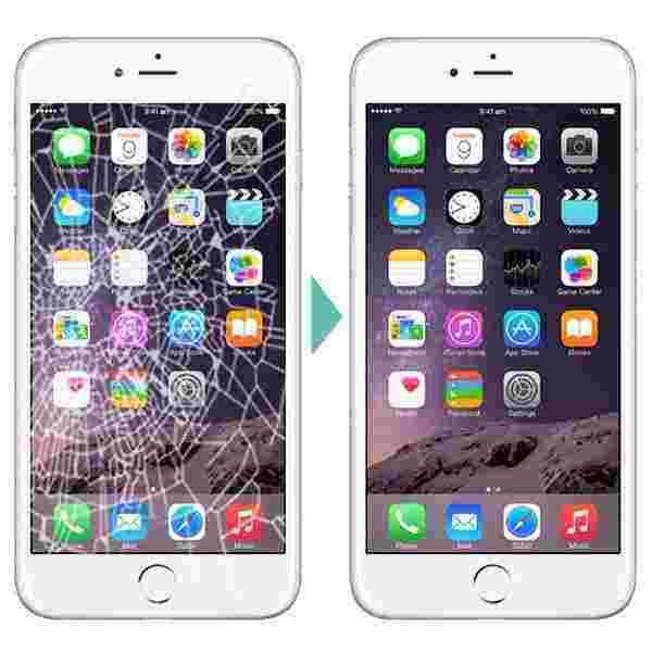 Mặt kính iPhone 6s sau khi được thay tại Caremobile.
