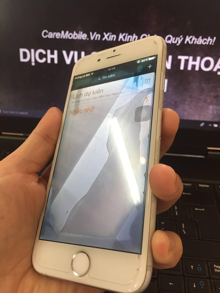 iPhone 6 rơi nước lỗi màn hình phản quang, sọc