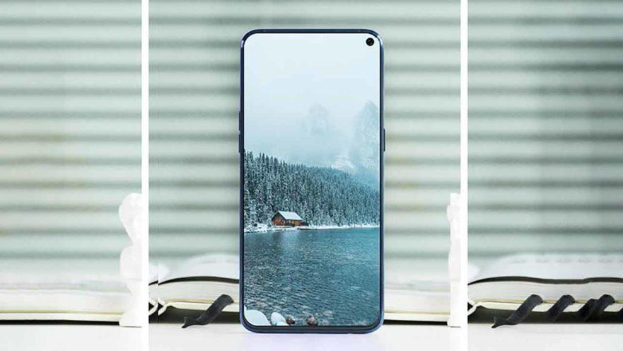 Màn hình Samsung A8s sau khi đã được thay mới.