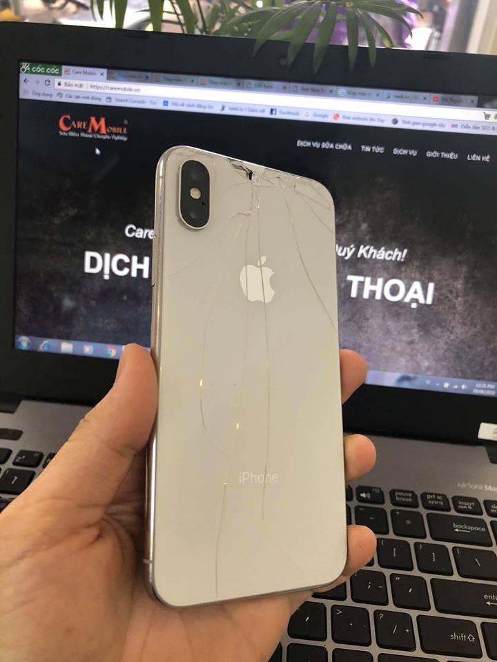 Thay vỏ iPhone XS: Thay vỏ + thay khung xương iPhone XS.