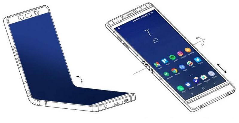Chiếc điện thoại Samsung màn hình gập.