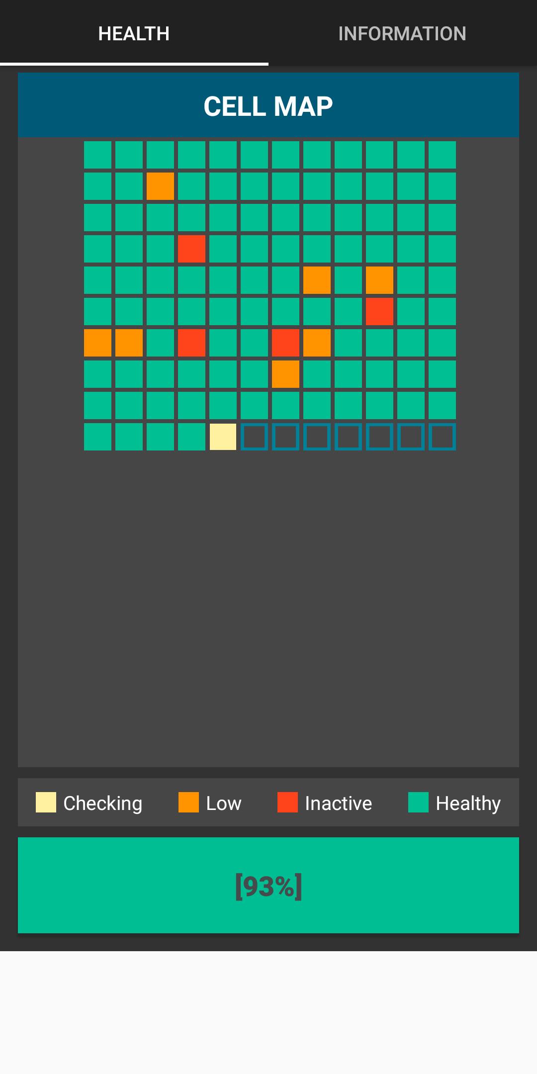 Ứng dụng kiểm tra độ chai pin Android.
