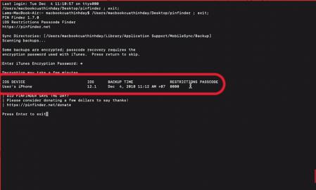 Nhập passcode để lấy lại mật khẩu